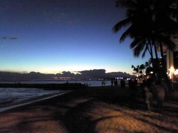 藍色の浜辺